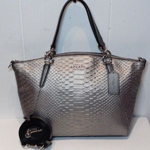NWT Coach Python Embossed Leather Sm.Kelsey F39779